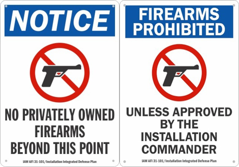 Eglin firearm policy