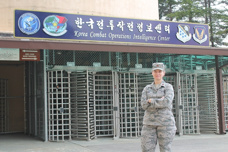 Maj. Alison Hamel is the first individual mobilization augmentee to be assigned to the 694th Intelligence, Surveillance and Reconnaissance Group at Osan Air Base, Korea.