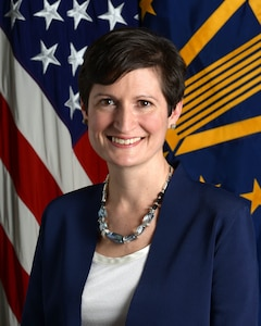 Cara Abercrombia, Deputy Assistant Secretary of Defense, South and Southeast Asia (USD Policy), poses for her official portrait in the Army portrait studio at the Pentagon in Arlington, Virginia, June 15, 2016.  (U.S. Army photo by Monica King/Released)