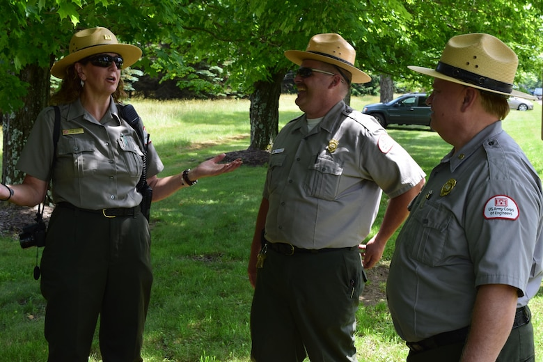 Pittsburgh District rangers worked to ensure Mahoning Creek Lake's 75th anniversary commemoration was a fun and safe event.