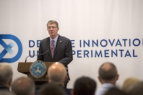 Defense Secretary Ash Carter delivers remarks during a meeting at the new Defense Innovation Unit Experimental, or DIUx, office in Boston, Mass., July 26, 2016. DoD photo by Air Force Tech. Sgt. Brigitte N. Brantley