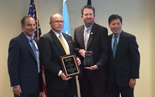 (Left to right) Peter Levine, acting undersecretary of defense for personnel and readiness; Eric Spanbauer, DLA's Workforce Recruitment Program manager; Brad Bunn, DLA Human Resources director; and Christopher Lu, deputy secretary for the Department of Labor, pose for a photo following the 2016 WRP Awards Ceremony July 22 in Washington D.C.