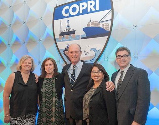 (left to right) Shannon Kinsella, Ports 2016 Conference Chair; The Honorable Jo-Ellen Darcy, ASA(CW); Dr. Robert Ballard, Keynote Speaker; Imee Osantowski, ASCE Ports & Harbors Committee Chair; Tom Chase, COPRI Director.  Ports 2016 Conference Plenary Session (New Orleans, LA)