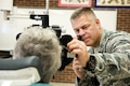 Air Force Capt. Brett Ringger examines a patient's eyes during the Greater Chenango Cares Innovative Readiness Training in Cortland, N.Y., July 18, 2016. Ringger is an optometrist assigned to the Texas Air National Guard's 136th Medical Group. Air National Guard photo by Senior Master Sgt. Elizabeth Gilbert