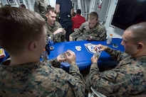 Marines and Sailors aboard the USS San Antonio (LPD-17) enjoyed a night of blackjack, poker and spades April 10, 2016. The servicemembers, from the 22nd Marine Expeditionary Unit and Amphibious Squadron Six (PHIBRON-6), are underway for Amphibious Ready Group/MEU exercises.