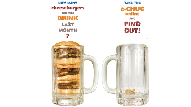 An E-Checkup to Go illustration shows one example of the comparisons the eCHUG survey makes based on the survey's answers. The comparisons are designed to provide insight, including the comparative cost of an individual's alcohol use. (Courtesy graphic)