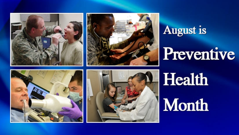Preventing illness or injury is the goal of the Air Force's Preventive Medicine program, a topic that is highlighted in August during Preventive Health Month.  (AF Graphic)