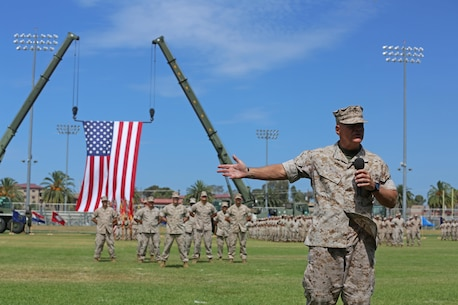 "Gen. Robert Neller, commandant of the Marine Corps, speaks to Marines, Sailors and families in attendance during a change of command ceremony at Camp Pendleton July 27, 2016. ""He's made the Marine Corps a better warfighting organization, which at the end of the day is what we're all about,"" said Neller. ""We can go help people and rescue them, to defeat our nation's enemies, and that's what we do. We assure our friends and deter our adversaries.""  During the ceremony, Lt. Gen. David H. Berger relinquished his duties as the commanding general of I MEF to Lt. Gen. Lewis A. Craparotta. (U.S. Marine Corps photo by Cpl. Garrett White/ RELEASED)"
