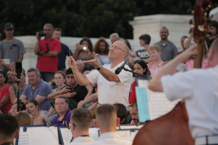 On July 27, 2016, the Marine Band performed a Summer Fare concert at the U.S. Capitol. (U.S. Marine Corps photo by Master Sgt. Kristin duBois/released)