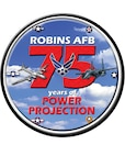 Logo for Robins 75 year anniversary