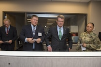Defense Secretary Ash Carter visits the Chicago Military Entrance Processing Station in Chicago, July 28, 2016. DoD photo by Air Force Tech. Sgt. Brigitte N. Brantley