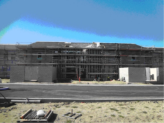 July 2016 progress on the $62 million Operational Readiness Training Complex on Fort Hunter Liggett.
