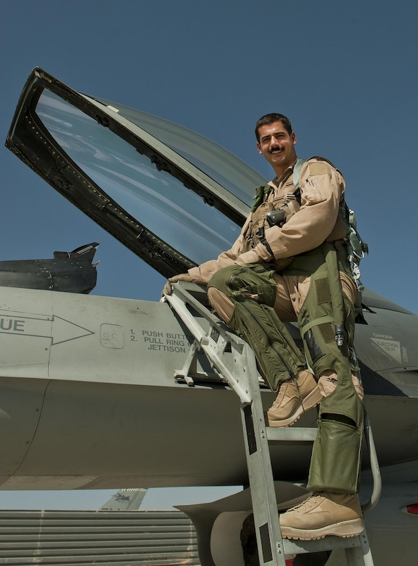 """Capt. Whit Collins, 85th Test and Evaluation Squadron flight commander, will assume the role of Thunderbird pilot number 6, the opposing """"solo"""" for the new airshow season.  (Courtesy photo)"""