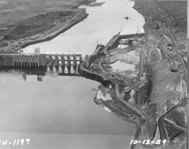 Lock excavation, looking West/downstream