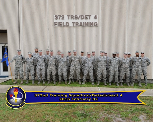 """The """"Raptor Teachers"""" of Detachment 4 consists of 14 instructors who instruct over 400 maintainers across eight AFSCs providing worldwide and local training on F-22 aircraft systems and support equipment for the 325th Fighter Wing active duty, Air National Guard and Reserve units."""