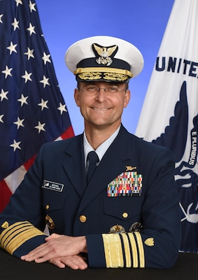 Official photo of Admiral Charles Michel