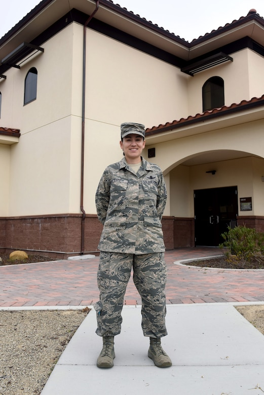 Master Sgt. Taryn Stys, 30th Force Support Squadron Career Assistance Advisor, stands in front of the Education Center - where her office is located, May 31, 2016, Vandenberg Air Force Base, Calif. With access to more than 130 different career fields, and numerous special duty opportunities, Airmen across the Air Force are often afforded the chance to find a profession that best suits them. In an effort to make this vast amount of career-opportunity information easily understandable and available to Airmen - many bases, to include Vandenberg, have a Career Assistance Advisor ready to support members' needs.
