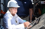 PASCAGOULA, Miss. (June 1, 2016) - Mrs. Ima Black places her initials onto the keel plate of DDG 119 during the ceremony authenticating the keel of the future USS Delbert D. Black. The destroyer was named in honor of Black's late husband Delbert Black, the first Master Chief Petty Officer of the Navy. The Flight IIA Arleigh Burke class ship will serve as an integral player in global maritime security, engaging in air, undersea, surface, strike and ballistic missile defense.