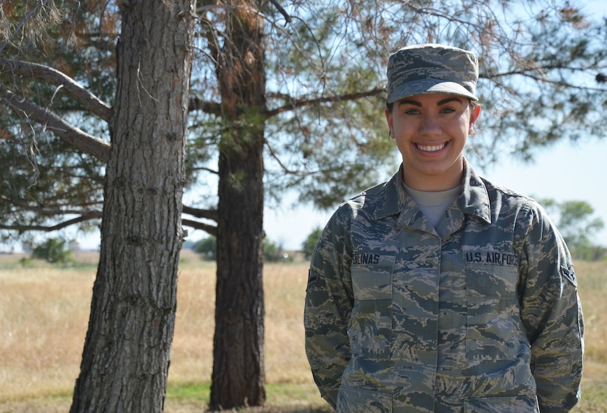 Airman Alicia Salinas, 9th Aerospace Medicine Squadron Public Health technician, poses for a photo June 1, 2016, at Beale Air Force Base, California. (U.S. Air Force photo by Airman Tommy Wilbourn)