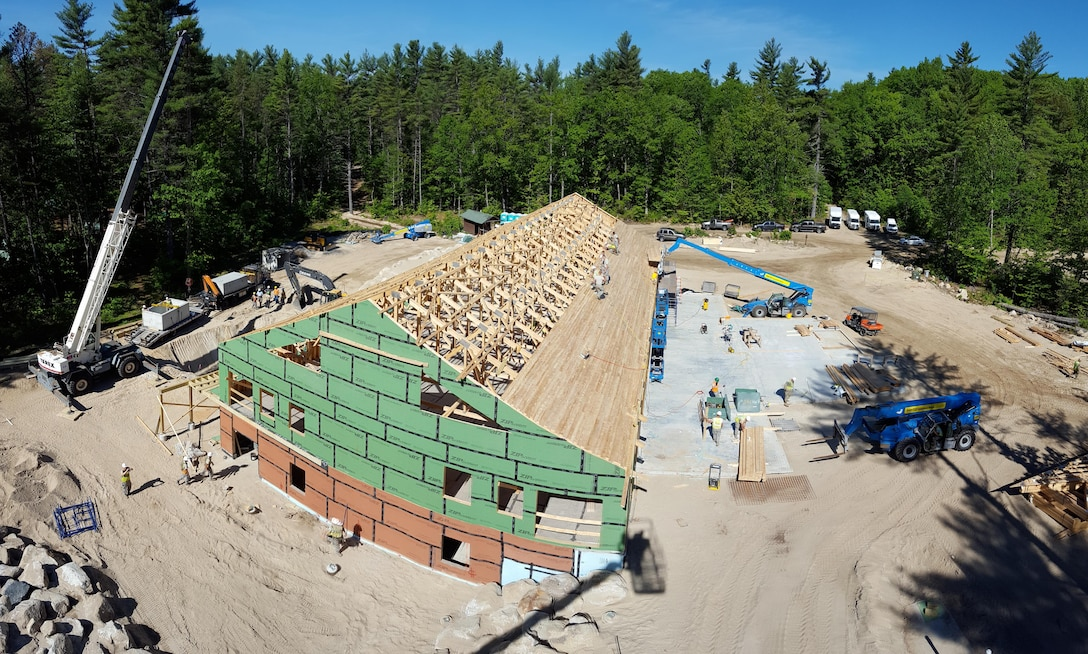 U.S. Airmen with the 139th Civil Engineer Squadron, Missouri Air National Guard, participate in Innovative Readiness Training (IRT), at William Hinds Boy Scout Camp in Raymond, Maine, on June 1, 2016. The IRT is part of a joint operation with the U.S. Marines, Navy, Air National Guard, and Air Force Reserve to help rebuild parts of the camp. (U.S. Air National Guard photo by Tech. Sgt. Theo Ramsey/Released)