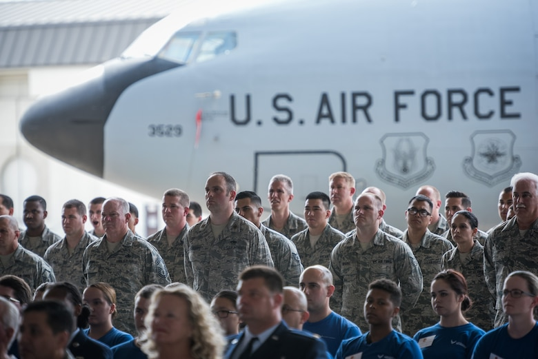 Audience members observe as the 940th Air Refueling Wing continues its proud story at Beale Air Base, California, on June 4, 2016. (U.S. Air Force photo by Staff Sgt. Brenda Davis/released)