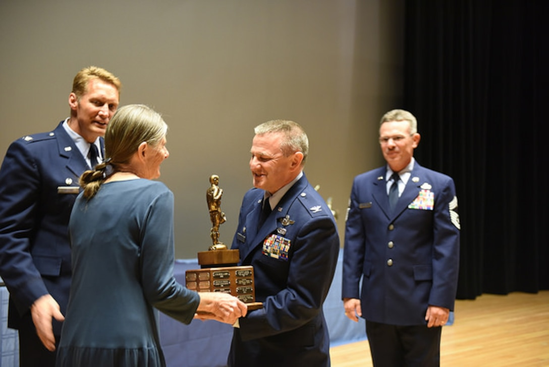 JOINT BASE ELMENDORF-RICHARDSON, Alaska -- Members of the 176th Wing gathered at the Talkeetna Theater here June 5 for their annual award ceremony, honoring the award recipients and the accomplishments of the wing during 2015.