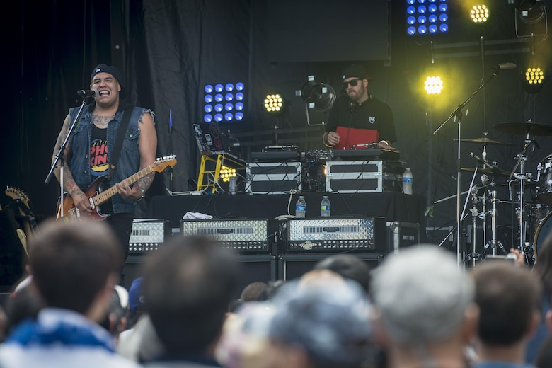Sublime with Rome performs during the 28th Annual American Day which saw more than 80,000 attendees and showcased the prefecture's bilateral partnership among U.S. military and Japanese residents in Misawa City, Japan, June 5, 2016. Events like these are important as they afford Misawa neighbors, American and Japanese alike, opportunities to interact in a relaxed environment specifically planned for building friendships. (U.S. Air Force photo by Staff Sgt. Benjamin W. Stratton)