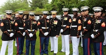 Detachment Brussels with the Commandant of the Marine Corps and the Sergeant Major of the Marine Corps at Belleau Wood Memorial the show respect for Memorial Day 2016
