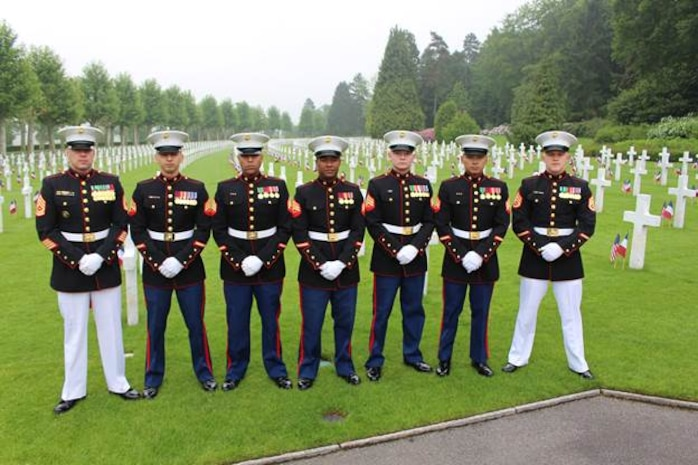 Detachment Brussels at Belleau Wood Memorial the show respect for Memorial Day 2016