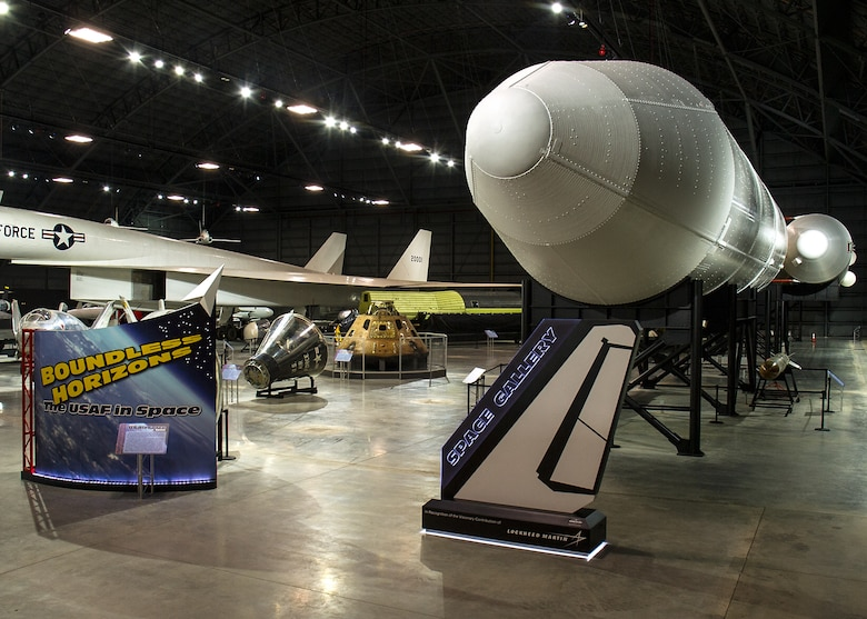 DAYTON, Ohio - A general view of the Space Gallery at the National Museum of the U.S. Air Force. (U.S. Air Force photo by Ken LaRock)