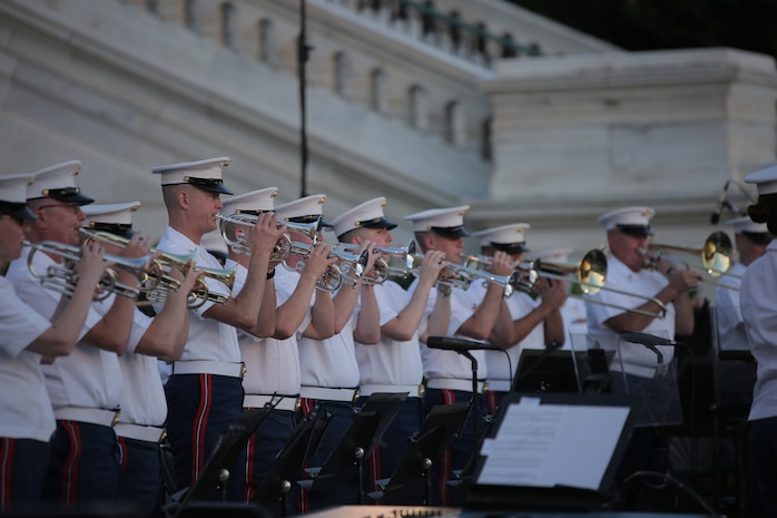 On July 22, 2015, the Marine Band performed a Summer Fare concert at the U.S. Capitol. (U.S. Marine Corps photo by Master Sgt. Kristin duBois/released)