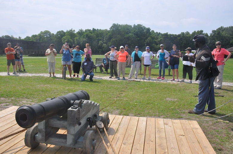 Metro Savannah-area teachers join marine archaeologists, Civil War re-enactors and other specialists to learn how to integrate science, technology, engineer and math (STEM) lessons from the recovery of the ironclad CSS Georgia into their classrooms. As part of the four-day institute delivered by Georgia Tech University in Savannah, the educators visit Old Fort Jackson, the location where the under-powered warship was anchored in the early 1860s. The visit to Old Fort Jackson allowed them to learn how evolving technology impacted the soldiers and sailors at the fort and aboard the CSS Georgia. Through hands-on demonstrations, the teachers employed several basic engineering and technology actions which can be adapted to classroom instruction.