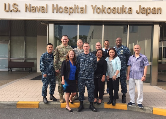 DLA Troop Support Medical employees meet with customers at U.S. Naval Hospital Yokosuka, Japan during a visit to Pacific Region customers in May. The visit was an opportunity to provide face-to-face customer service to military hospitals in the region.