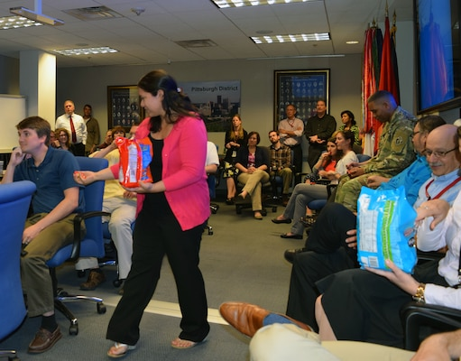 In celebration of Asian-Pacific Islander Heritage Month, members of the U.S. Corps of Engineers Pittsburgh District played a game of trivia, May 24.