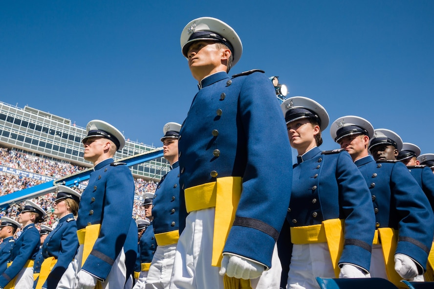 More than 800 newly-minted second lieutenants graduated June 2, 2016, from the U.S. Air Force Academy. (U.S. Air Force photo/Liz Copan)