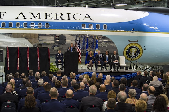 DAYTON, Ohio -- The fourth building grand opening ceremony for the new 224,000 square foot building was held on June 7, 2016 at the National Museum of the U.S. Air Force. Director of the National Museum of the U.S. Air Force, Lt. Gen.(Ret.) Jack Hudson gave his comments about the museum's expansion. (U.S Air Force photo by Ken LaRock)