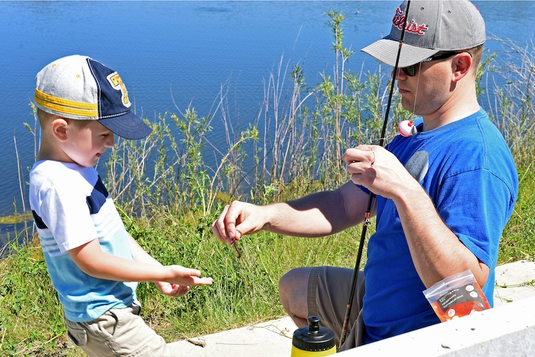 Malmstrom holds kid 39 s fishing day malmstrom air force for Fishing poles wow