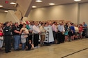 DAYTON, Ohio -- Crowds line up for the fourth building ribbon cutting ceremony held on June 8, 2016 at the National Museum of the U.S. Air Force. (U.S. Air Force photo by Ken LaRock)