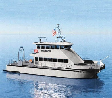 The USACE Marine Design Center is designing and managing construction of a replacement vessel for the Survey Vessel Shuman, which conducts hydrographic surveying of channels for the Philadelphia District.