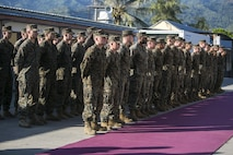 U.S. Marines and Sailors, with Task Force Koa Moana, join with Timorese soldiers to attend the opening ceremony for Exercise Crocodilo 16, June 6, 2016 at Hera Naval Base, Timor Leste as part of their deployment to multiple countries in the Asia-Pacific region. Crocodilo is a multi-national, bilateral exercise designed to increase interoperability and relations between participating nations. Task Force Koa Moana is comprised of Marines from various units with I and III Marine Expeditionary Forces.