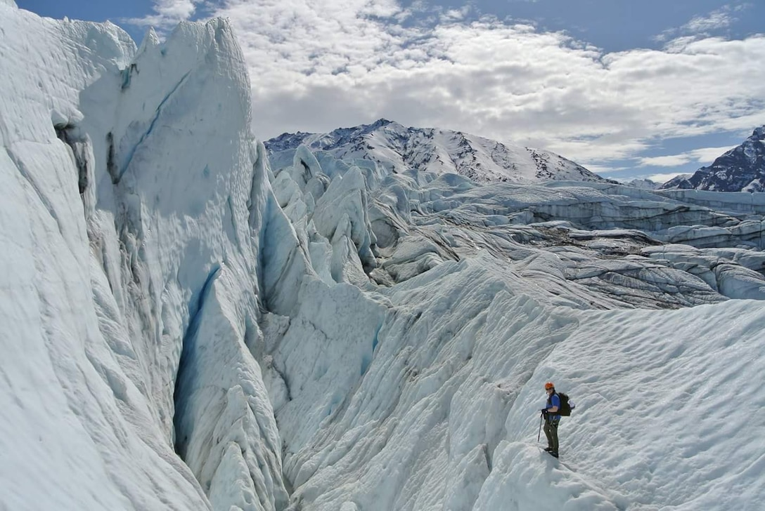 A glacier ice climb is one of the trips offered by the Outdoor Adventure Program as part of the Women in the Wilderness program. The program is beginner oriented and can help make women more comfortable in the wilderness. (Courtesy photo)