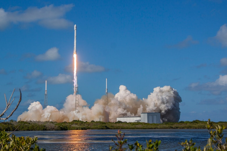 The U.S. Air Force's 45th Space Wing supported the successful SpaceX Falcon 9 THAICOM-8 launch May 27, 2016, at 539 p.m. ET from Launch Complex 40 at Cape Canaveral Air Force Station, Florida. (Courtsey photo by SpaceX)