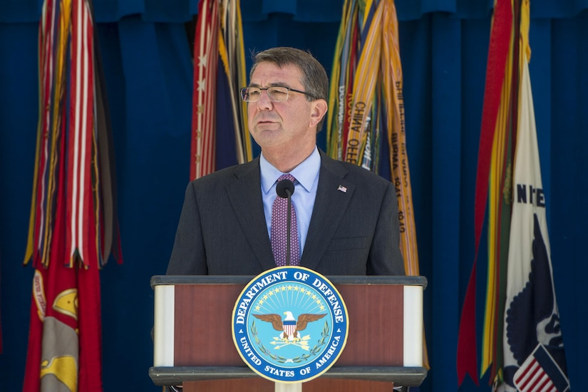 "Defense Secretary Ash Carter announces new ""Force of the Future"" initiatives at the Pentagon, June 9, 2016. DoD photo by Navy Petty Officer 1st Class Tim D. Godbee"