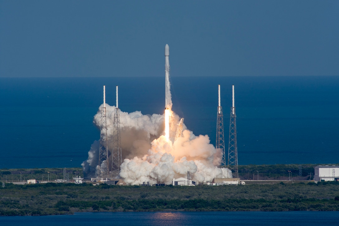 The U.S. Air Force's 45th Space Wing supported the successful SpaceX Falcon 9 THAICOM-8 launch May 27, 2016, at 5:39 p.m. ET from Launch Complex 40 at Cape Canaveral Air Force Station, Florida. (Courtsey photo by SpaceX)