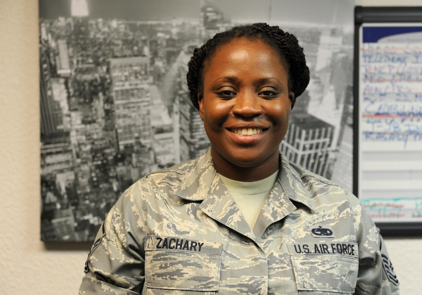 Master Sgt. Yakita Zachary, 9th Maintenance Group section chief of maintenance management analysis, poses for a photo June 9, 2016. (U.S. Air Force photo by Staff Sgt. Robert M. Trujillo