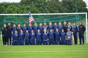 2016 U.S. Armed Forces Women's Soccer Team.  USA competed in the Conseil International du Sport Militaire (CISM) World Football Cup hosted in Rennes, France from 24 May to 5 June.