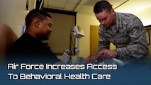 "The Behavioral Health Optimization Program, or BHOP, integrates behavioral health personnel into primary care clinics, to provide ""the right care, at the right time, in the right place."" Beneficiaries with behavioral health concerns can seek care directly through their primary care manager. (U.S. graphic by Air Force Medical Service)"