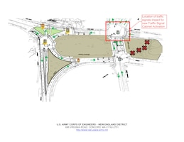 Shows location of new traffic control box