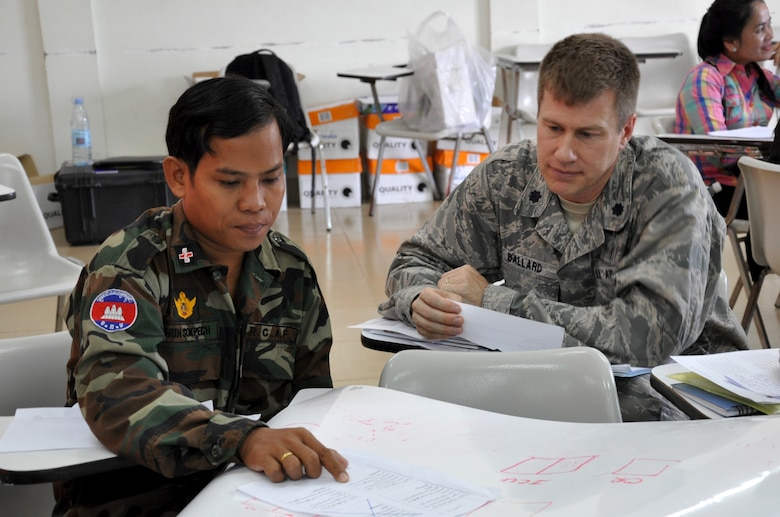 Medical professionals conduct humanitarian aid exchange pacific air forces article display - Military officer training school ...