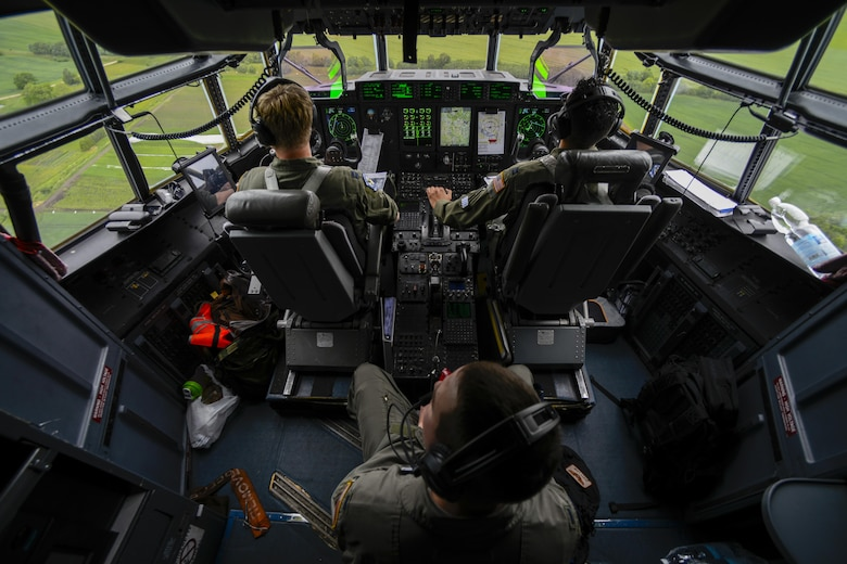 Pilots from the 37th Airlift Squadron fly over Riga, Latvia, June 10, 2016.  U.S. armed forces and Latvian airmen will participate in Saber Strike 16; a long-standing, U.S. Joint Chiefs of Staff-directed, U.S. Army Europe-led cooperative-training exercise, which has been conducted annually since 2010. This year's exercise will focus on promoting interoperability with allies and regional partners. The United States has enduring interests in supporting peace and prosperity in Europe and bolstering the strength and vitality of NATO, which is critical to global security. (U.S. Air Force photo/Senior Airman Nicole Keim)